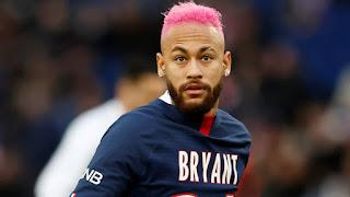 Neymar pelo rosa