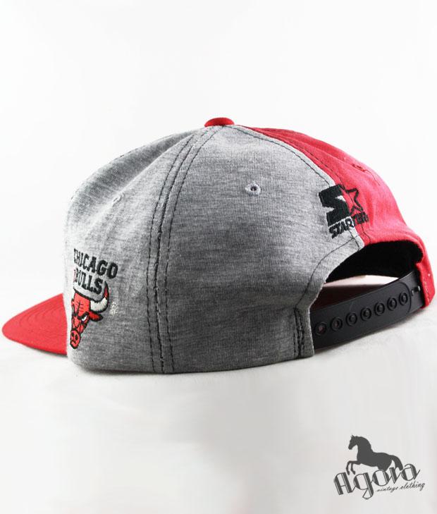 16c8392e7de Cool Gray Chicago Bulls Starter Snapback Hat - Agora Clothing Blog