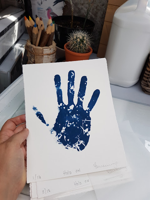 whoopidooings: Carmen Wing & The Print Block Screenprinted Cyanotype Hand Print