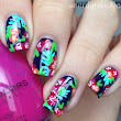 Tropical Floral Nails