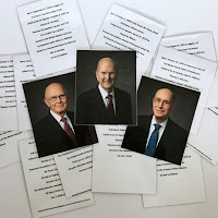 Get to know the First Presidency and Quorum of the Twelve Apostles cards from Simply Family Home Evening