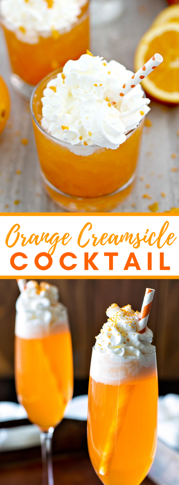 ORANGE CREAMSICLE COCKTAIL #drinks #holidaydrink
