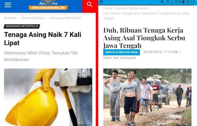 Naik 7 Kali Lipat, TKA Asal Cina Serbu Jawa Tengah