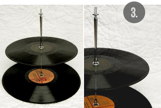 DIY record cake plate