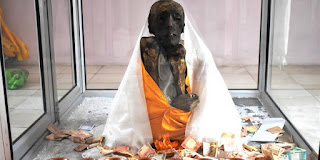 550 years old A sitting Mummy in Gue village