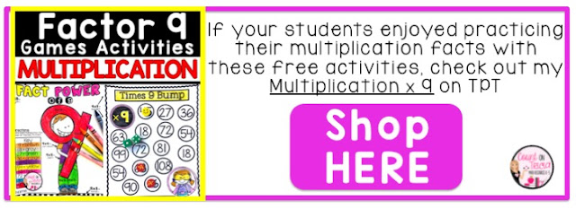 Multiplication Factor 9 Activities and Games