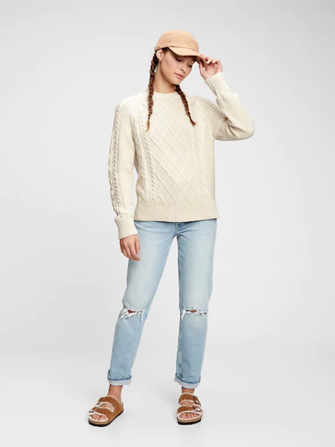 women gap cable knit sweater