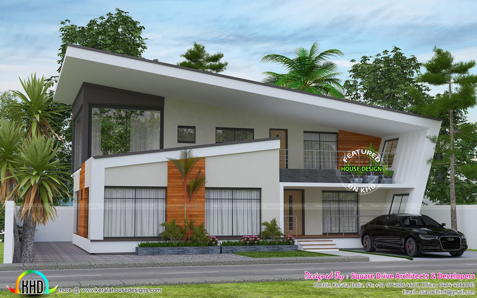 2732 sq ft ultra modern contemporary home kerala home for Ultra contemporary homes