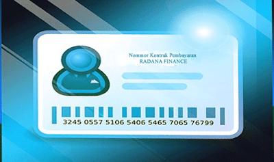 ilustrasi kartu nomor pembayaran leasing radana finance