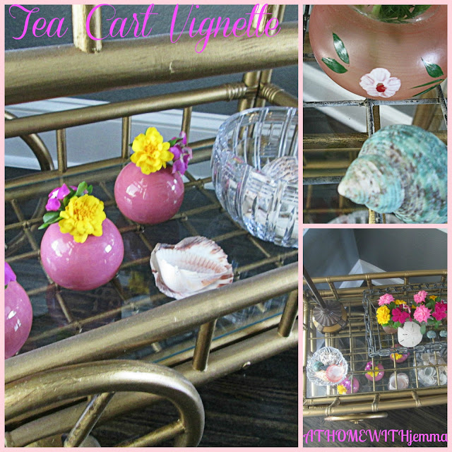 crystal candy dishes, fresh flowers, Summer style decorating
