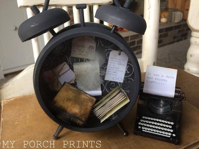 Writer Themed Tim Holtz Clock by My Porch Prints