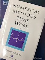 Numerical Methods That Work, by Forman Acton, superimposed on Intermediate Physics for Medicine and Biology.