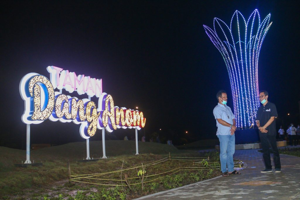 Taman Dang Anom Yang Berada Disebelah Flyover Laluan Madani Sangat Cocok Tempat Berswafoto