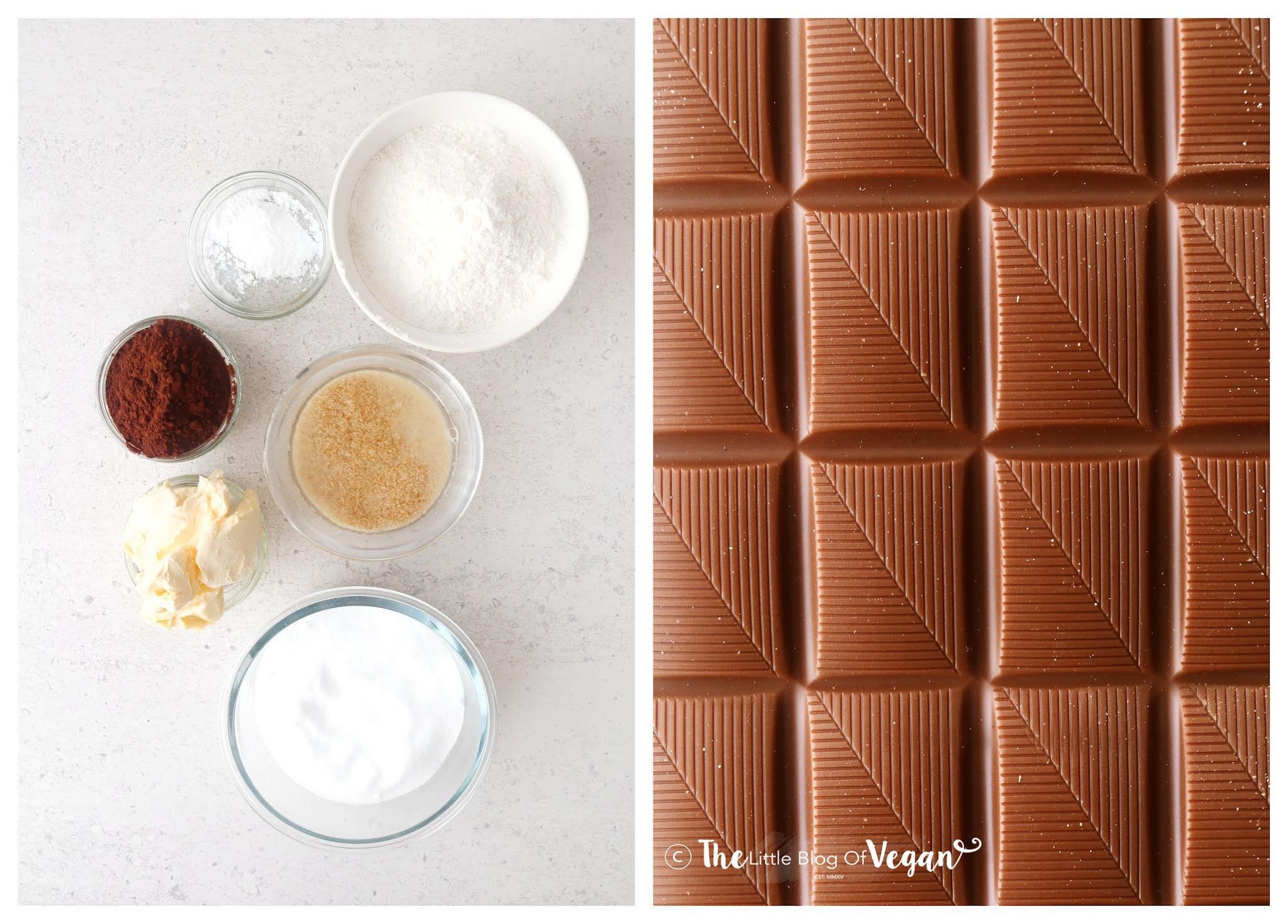 Ingredients for brownie cheesecake