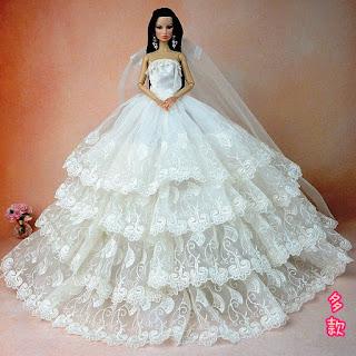 Desain Baju Pengantin Barbie Terlihat Indah