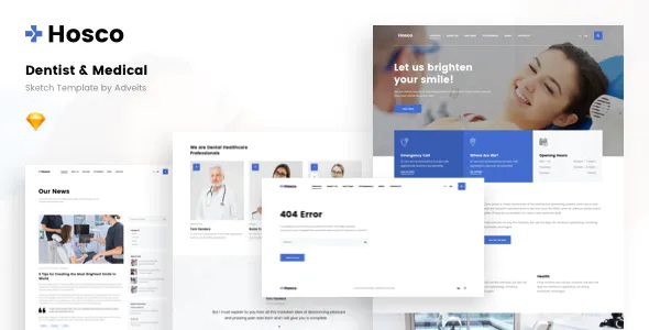 Best Dentist & Medical Sketch Template