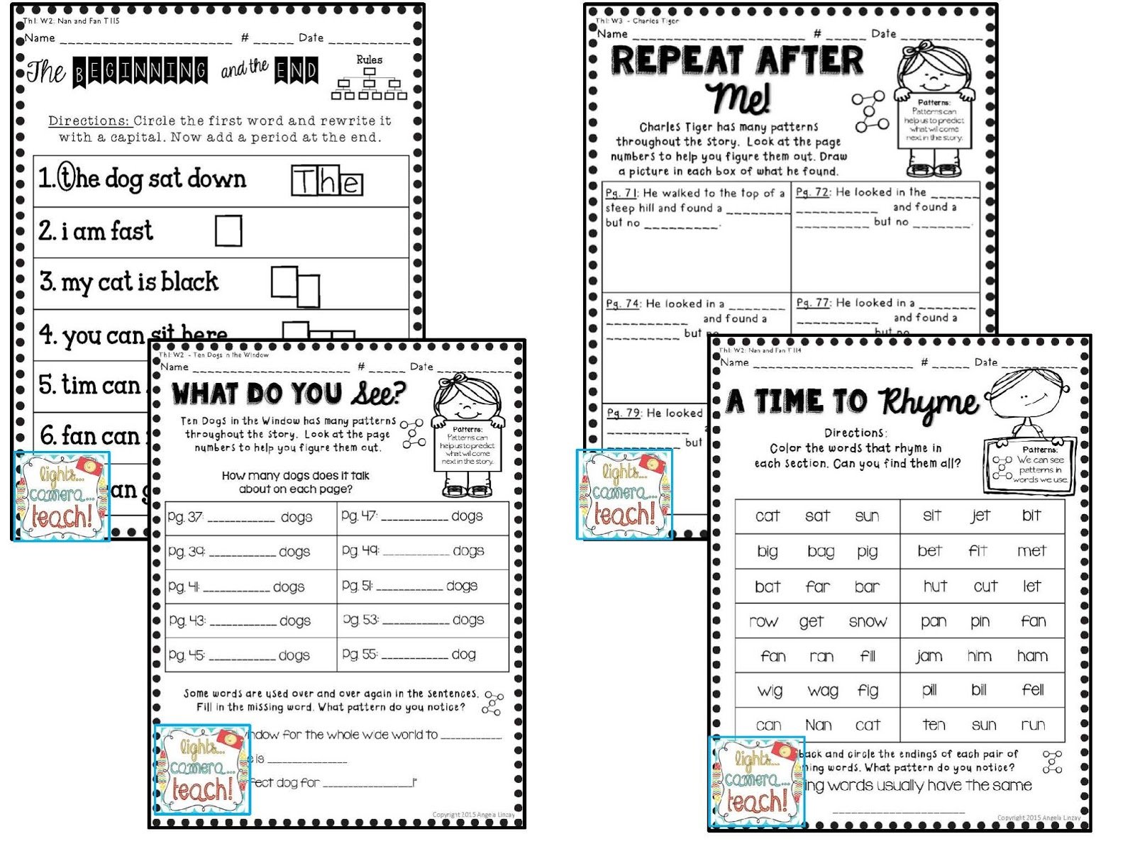 Lights Camera TEACH First Grade Houghton Mifflin – Houghton Mifflin Math Worksheets Grade 3