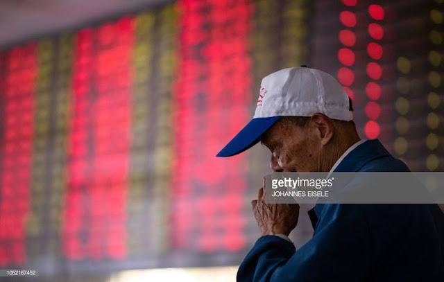 Thị trường chứng khoán Trung Quốc u ám ngày 15/10/2018