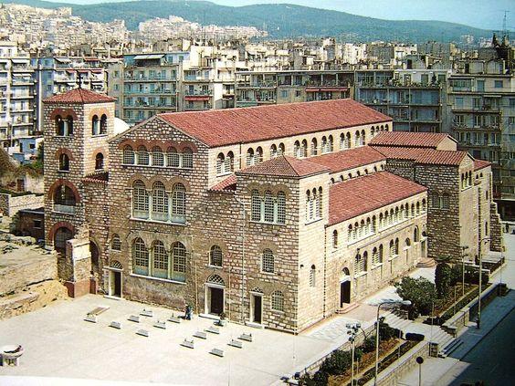 The Church of Hagios Demetrius, is the main sanctuary dedicated to Saint Demetrius,  the patron saint of Thessaloniki