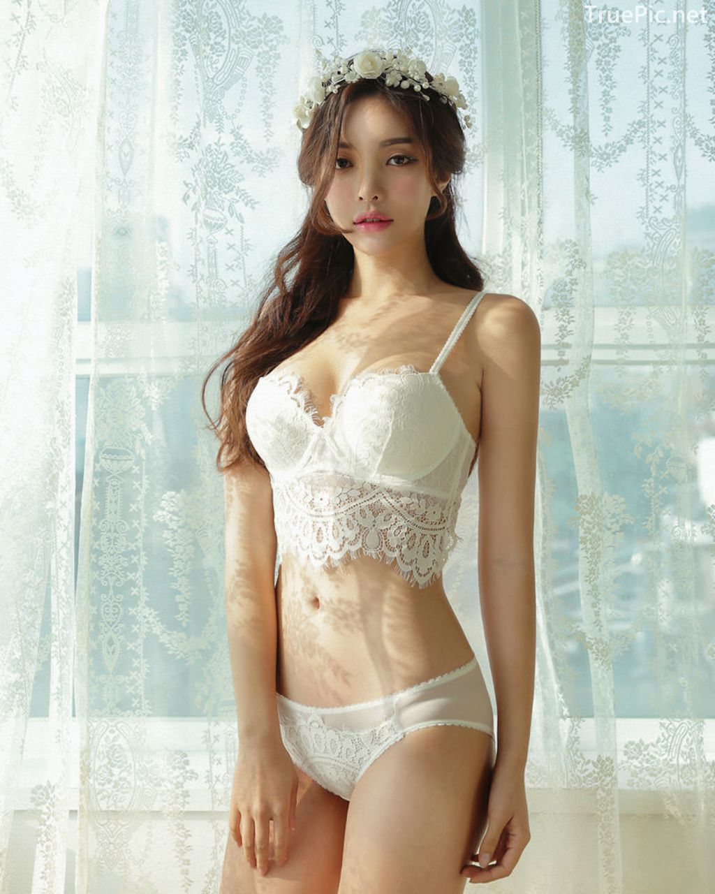 Korean Fashion Model - Jin Hee - Lovely Soft Lace Lingerie - TruePic.net - Picture 9