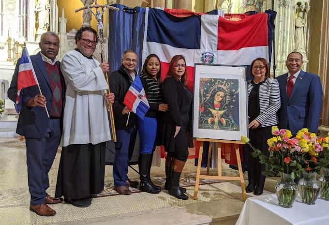Cientos veneran la Virgen de La Altagracia en misas convocadas  por  consulado dominicano en Boston y Lawrence