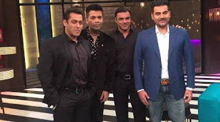 Khan brothers mean Salman Khan, Arbaaz Khan and Sohail Khan was the accumulation of 100th episode of 'Coffee with Karan' season 5