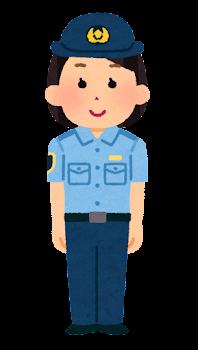 警察官のイラスト(シャツ・パンツ・若い女性)