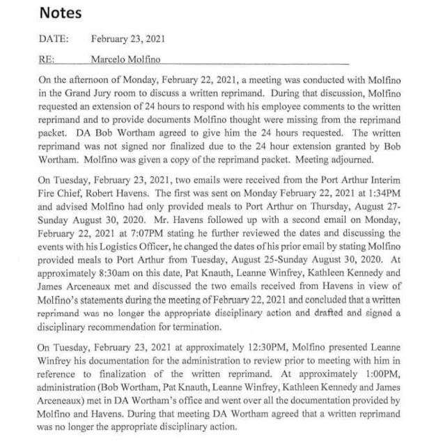 Marcelo Molfino Termination  Letter Unfit to Be Officer 2
