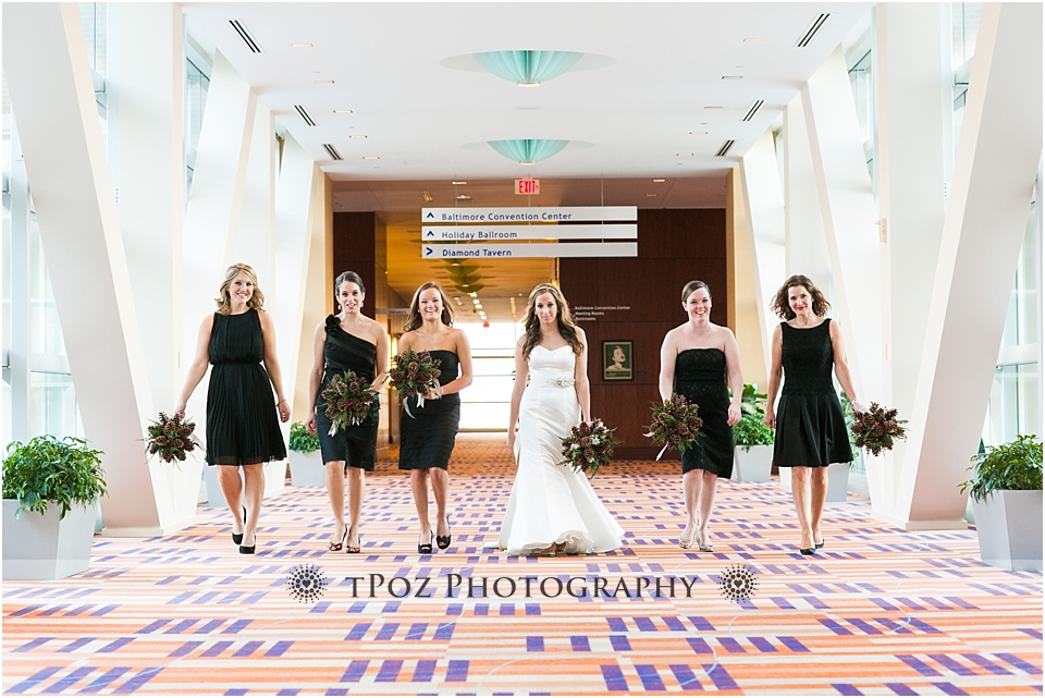 Baltimore Hilton Wedding Bridesmaids