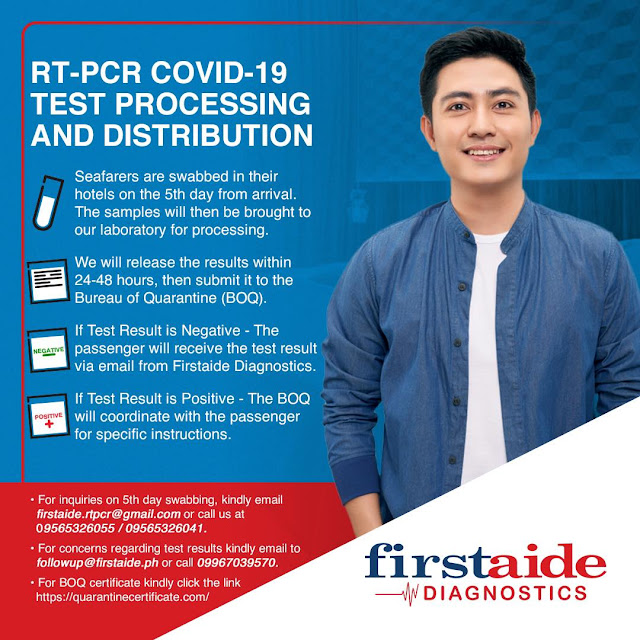Firstaide Diagnostics RT-PCR COVID Test Guidelines