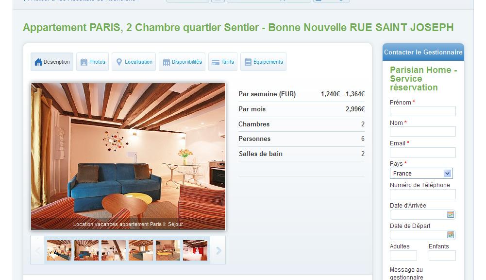 Location Appartement Paris Abritel