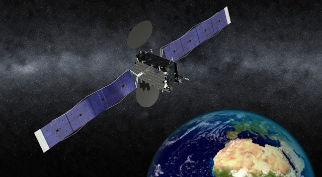 A simulated image of Eutelsat 5 West B