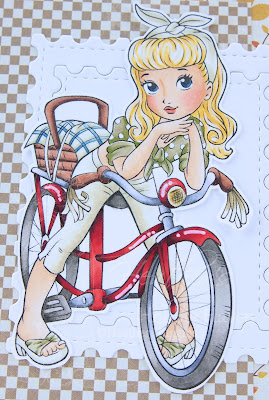 Heather's Hobbie Haven - Color Wednesday - Cute Bike