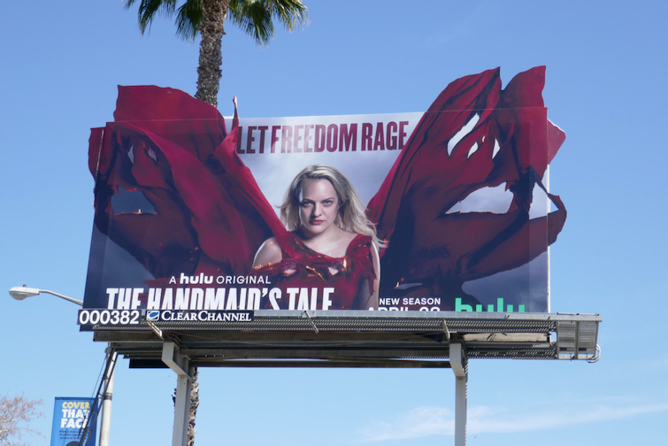 Handmaids Tale season 4 cut-out billboard