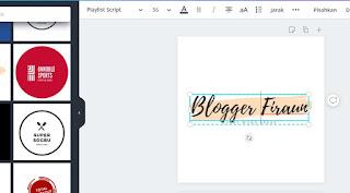 Editting kalimat dan gambar pada lembar kerja Canva