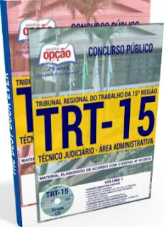 Apostila TRT-15ª região 2018 Técnico Judiciário