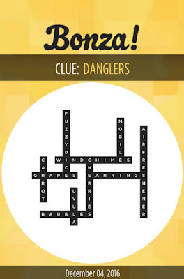 December 4 2016 Bonza Daily Word Puzzle Answers