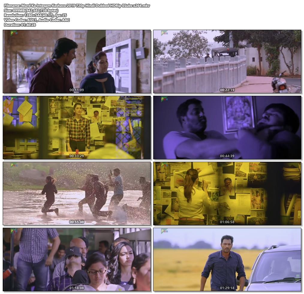 Mard Ka Inteqam Keshava 2019 720p Hindi Dubbed HDRip ESubs x264 | 480p 300MB | 100MB HEVC Screenshot