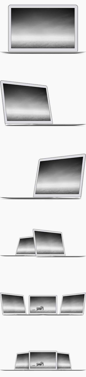 6 MacBook Air PSD Templates