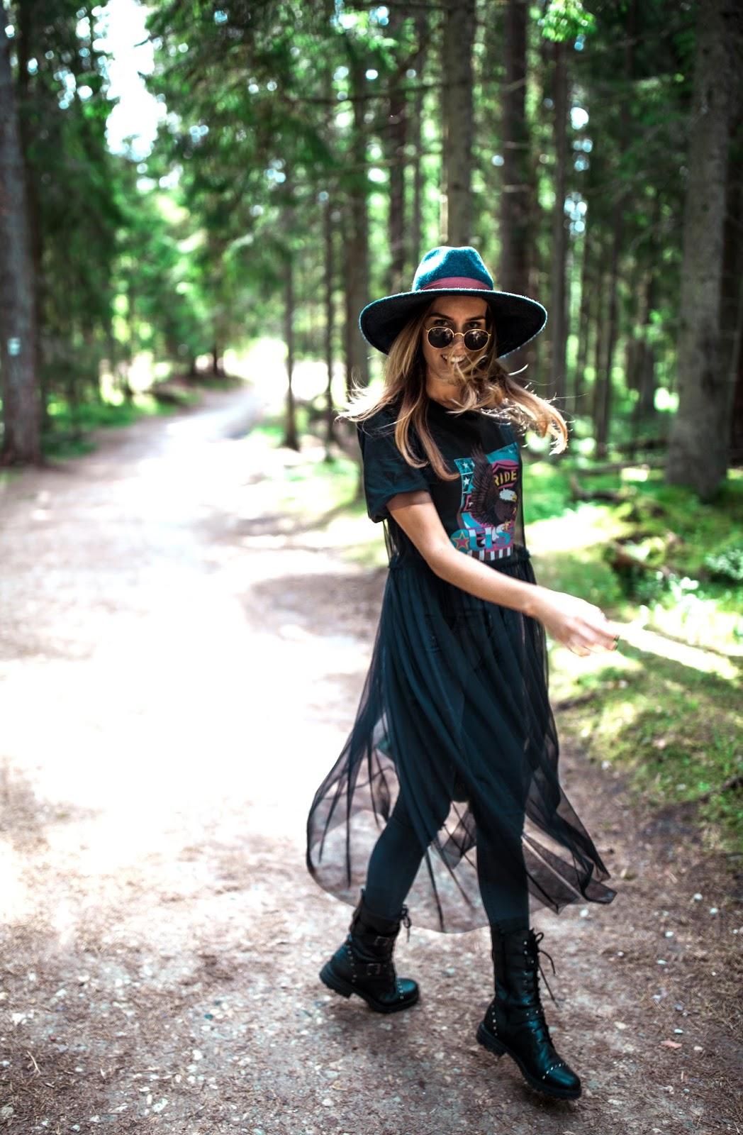 black mesh dress outfit summer