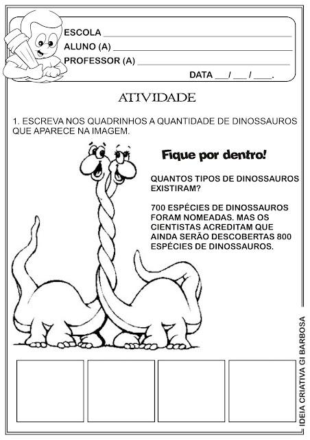 Atividade Numeral 2 Dinossauros
