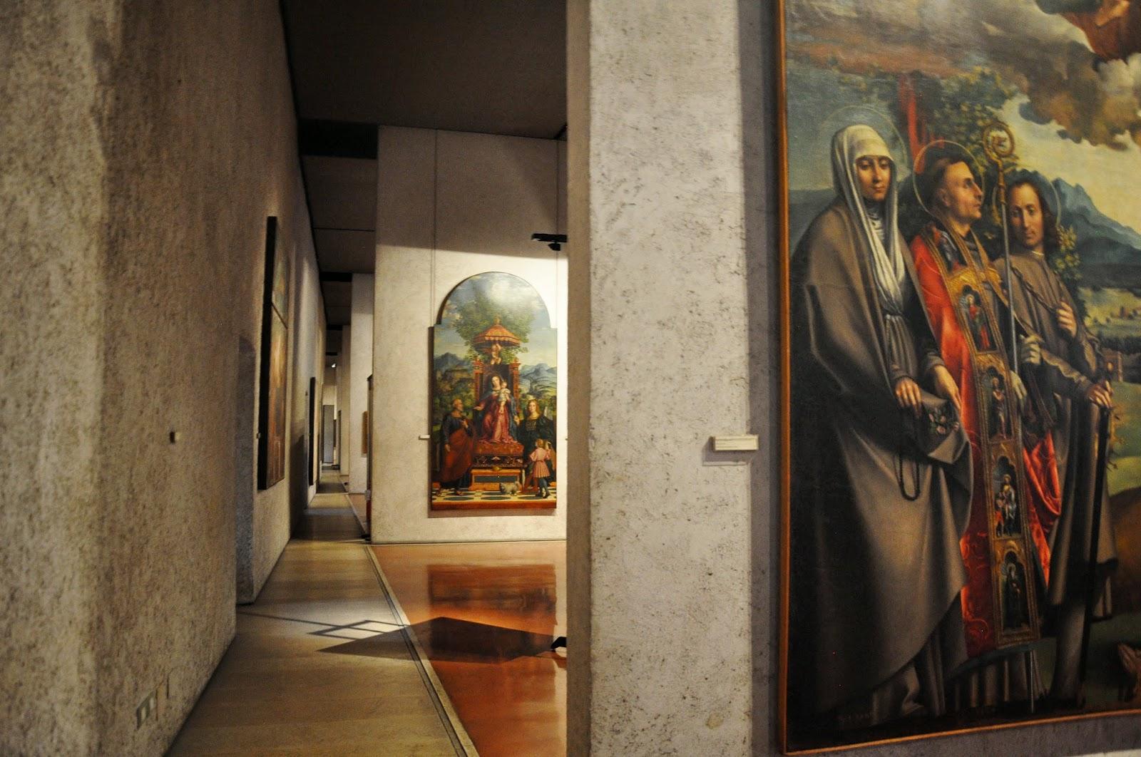 The art gallery of the Museum of Castelvecchio in Verona