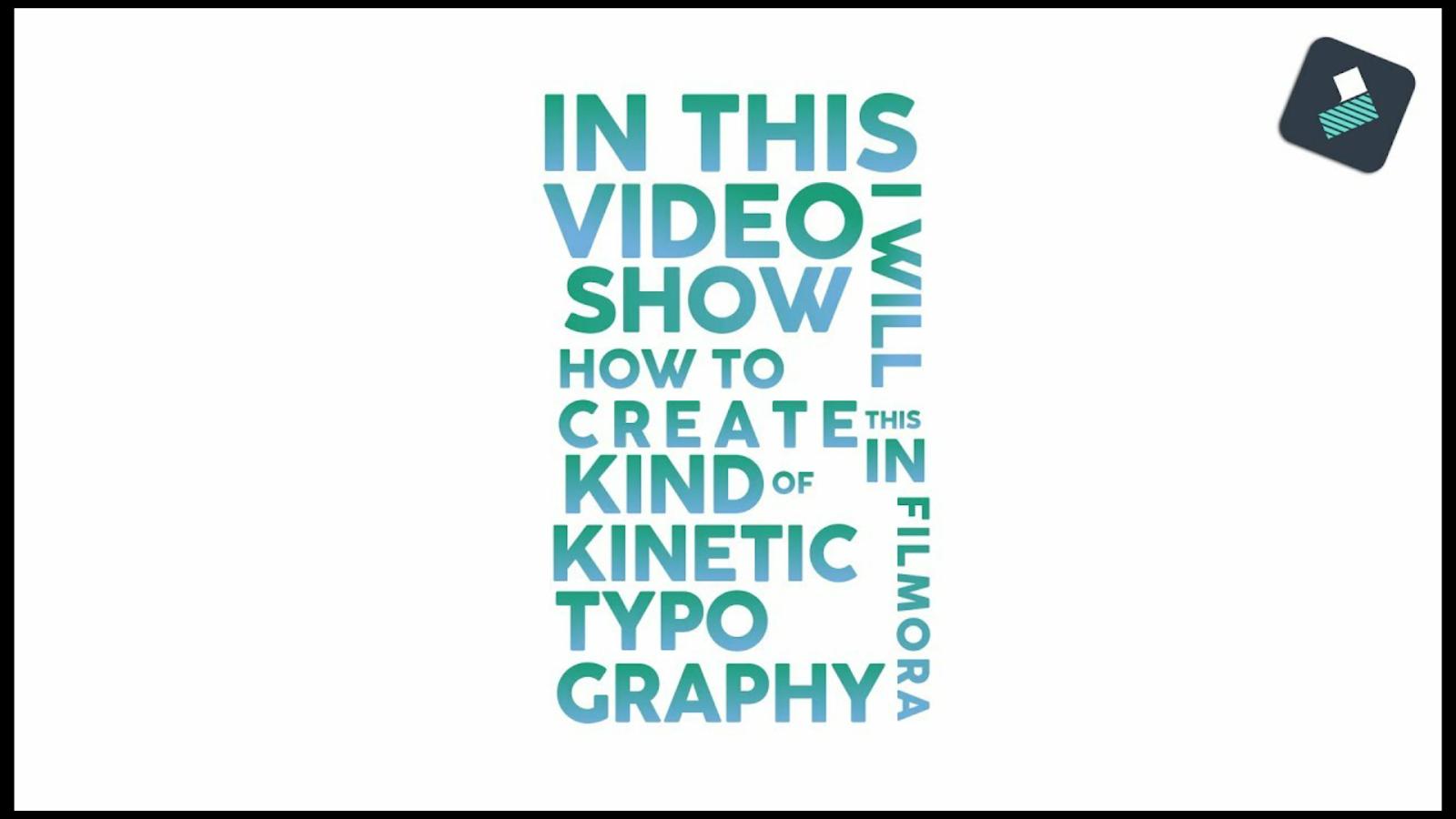 kinetic typography title in filmora