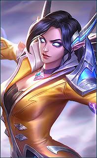 Eudora Flame Red Lips Heroes Mage of Skins Rework