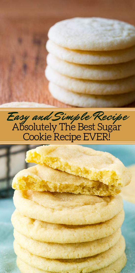 Absolutely The Best Sugar Cookie Recipe EVER! #desserts #cakerecipe #chocolate #fingerfood #easy
