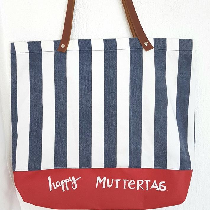 gestreifte Tasche aus Hemd und Tafelstoff genaeht - upcycling - DIY