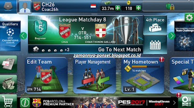 PES Club Manager Untuk Android