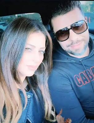 اول صورة لأمل صقر مع زوجها مسلم