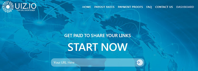 Uiz.io URL Shortener to Earn Online