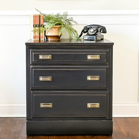 Goodwill dresser turned vintage inspired chest
